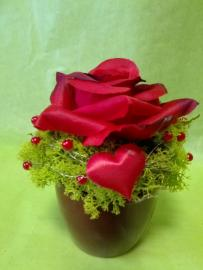 Náhľad - Aranžmán s ružičkou