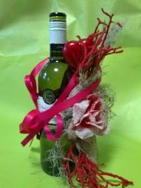 Náhľad - Červené víno so srdiečkami