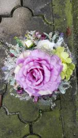 Náhľad - Malý aranžmán s fialovou ružou