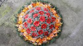 Náhľad - Veľký okrúhly veniec v oranžových farbách