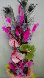 Náhľad - Gratulačná kytica s antúriami a ružami 2