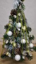 Náhľad - Vianočný stromček bielo,zlato strieborný_prírodný
