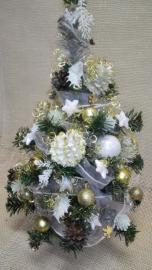 Náhľad - Vianočný stromček s bielo zlatými šiskami