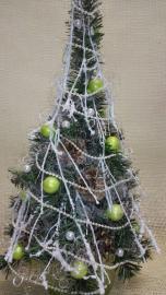 Náhľad - Vianočný stromček so zelenými guľami