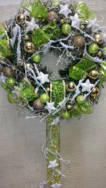 Náhľad - Zelený vianočný veniec na zavesenie