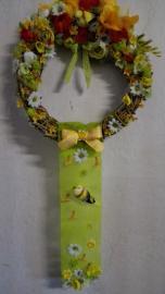 Náhľad - Venček so zelenou stužkou a vtáčikmi