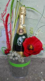 Náhľad - Ozdobené šampanské Hubert vo vedierku