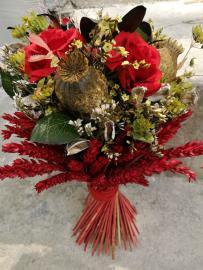 Náhľad - Sušená kytica s červenými klasmi