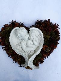 Náhľad - Šiškové srdce s anjelikmi
