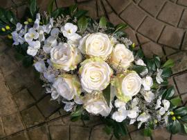 Náhľad - Aranžmán s ružami a orchideami